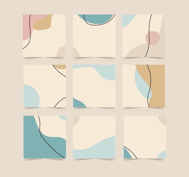 Modello di sfondo post social media in stile puzzle a griglia