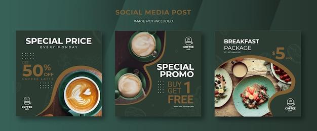 Post sui social media per coffee shop