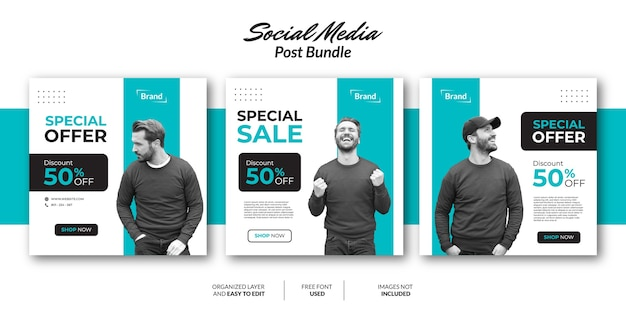 Modello di progettazione di post sui social media per la promozione