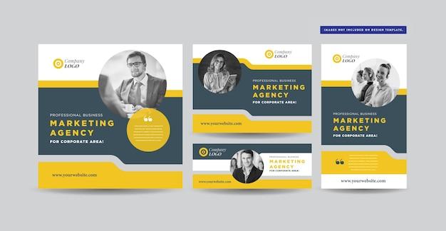 Post design dei social media Vettore Premium