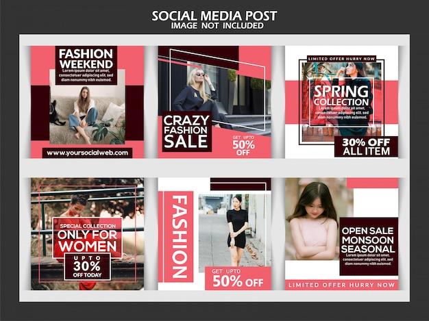 Raccolta di modelli di post sui social media