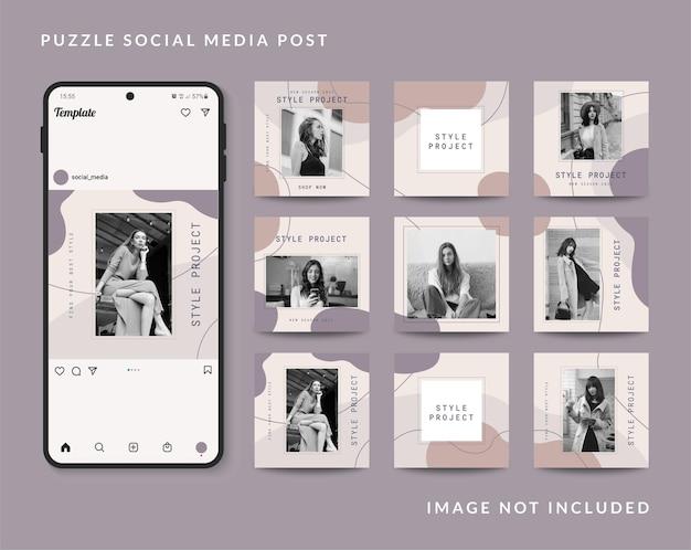 Promozione di vendita di moda modello post sui social media
