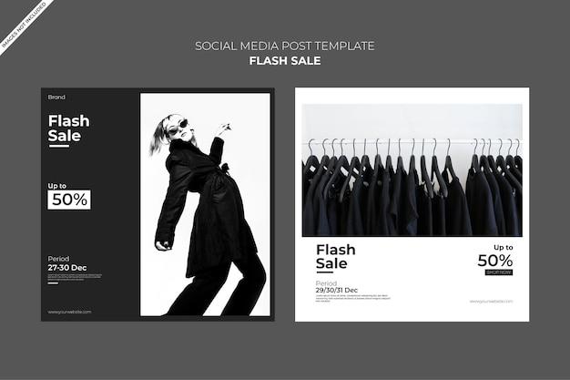 Modello di post per social media, vendita flash