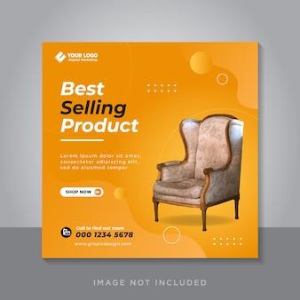 Modello di post sui social media per la vendita di mobili