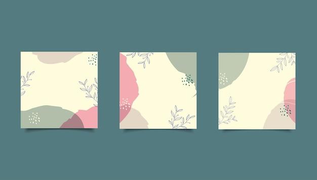 Modello di post sui social media disegnato a mano minimalista