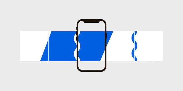 Modello di post sui social media post carouse illustrazione vettoriale isolato su sfondo bianco