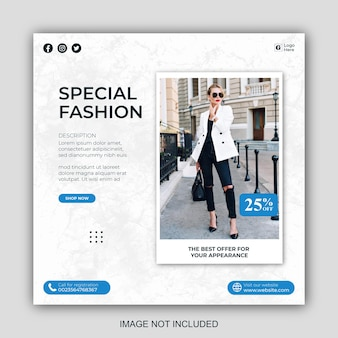 Modelli di post sui social media per il business della moda minimalista