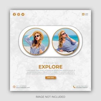 Modelli di post sui social media per viaggi d'affari