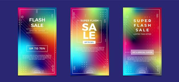 Banner di vendita di social media, modello di offerta con sfondo sfocato colorato