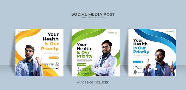 Servizio di social media post medico