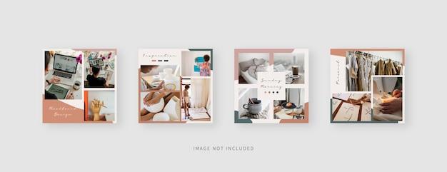 Set di modelli quadrati per social media
