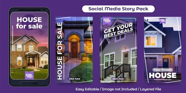 Post di storia sui social media per il settore immobiliare