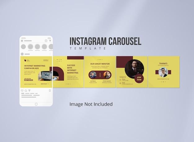 Modello di post carosello instagram di strategia per i social media