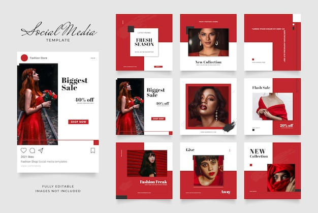 Promozione di vendita di moda di blog di banner modello di social media.