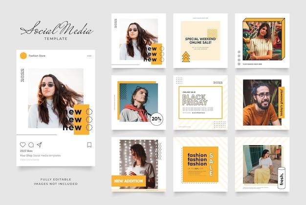 Promozione di vendita di moda di blog di banner modello di social media