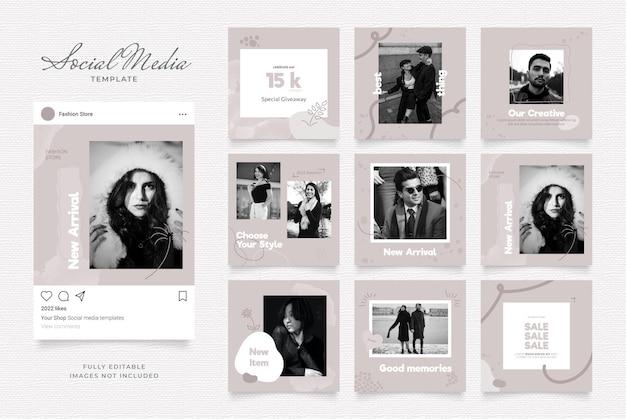 Promozione della vendita di moda del blog del modello di social media.