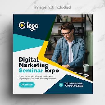 Modello di social media per il marketing digitale con design multicolore