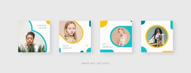 Modello di social media modello di post di social media modificabile alla moda