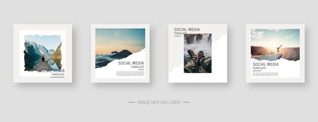 Modello di social media. modello di post sui social media modificabile alla moda. Vettore Premium