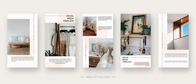 Modello di social media. modello di storie di social media modificabile alla moda. isolato. progettazione del modello. illustrazione.