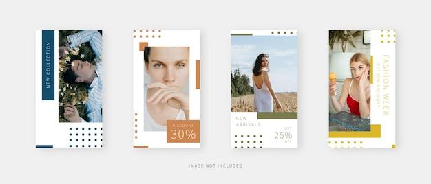 Modello di social media. modello di storie di social media modificabili alla moda. modello di progettazione.