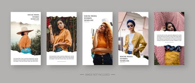 Modello di social media. modello di storie di social media modificabile alla moda. progettazione del modello.