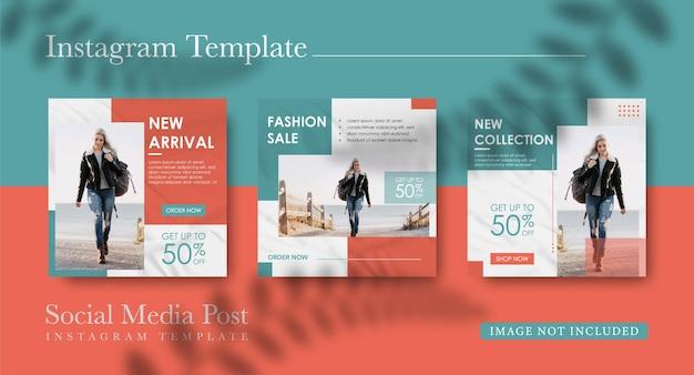 Modelli di social media per le vendite di moda