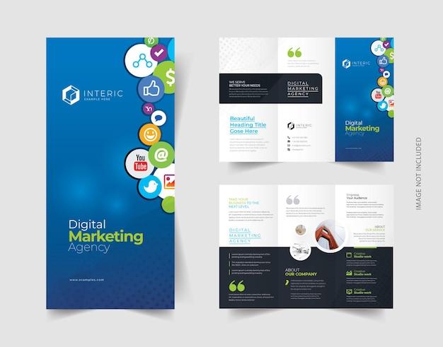 Brochure a tre ante sui social media