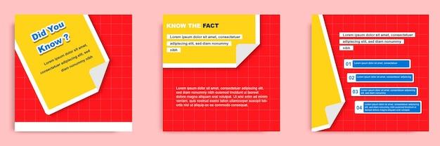 Tutorial sui social media, suggerimenti, trucchi, sapevi che il modello di banner post con documento pieghevole?