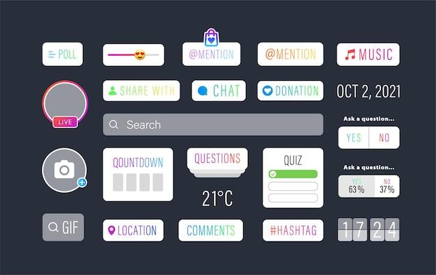 Interfaccia utente di social media impostata per la comunicazione internet.
