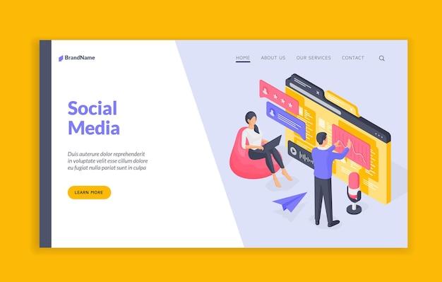 Modello di banner del sito web di social media