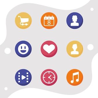 Icone dei social network
