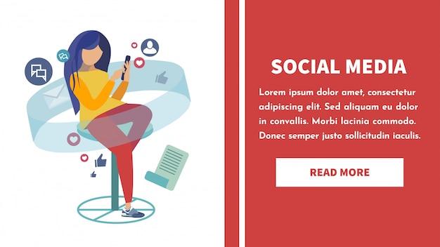 Modello di pagina di destinazione della rete sociale