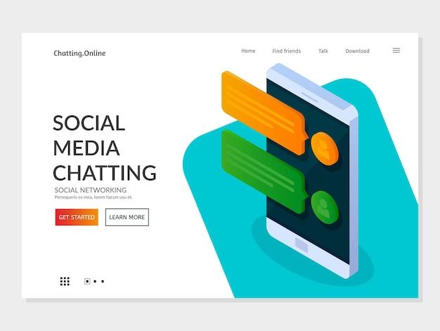 Concetto di pagina di destinazione del social networking