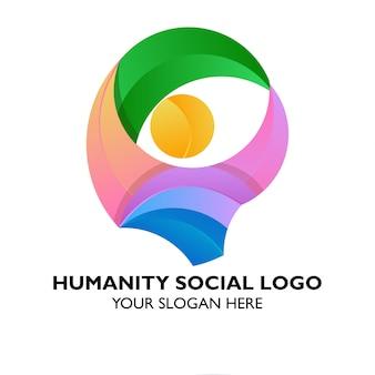 Logo della comunità umanitaria della comunità dell'umanità