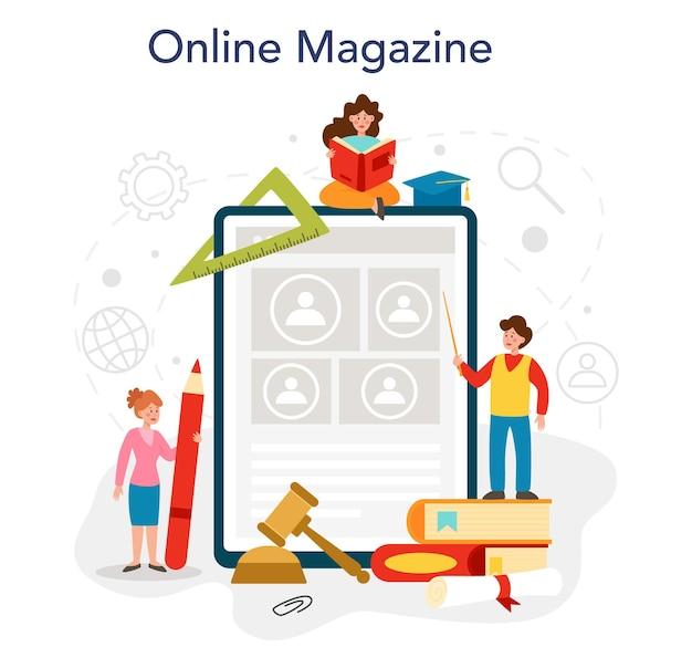 Servizio online di materie scolastiche di sociologia o piattaforma che studiano studenti