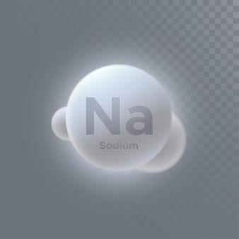 Segno di sodio minerale isolato
