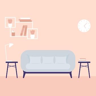 Divano in soggiorno, arte vettoriale