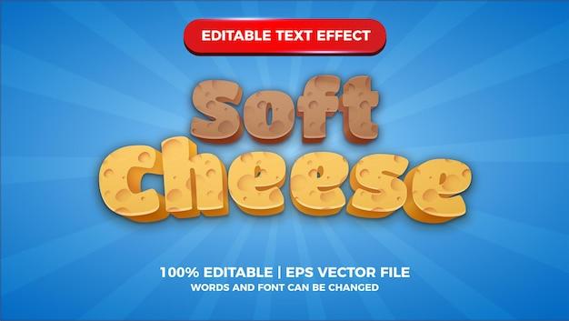 Effetto di testo modificabile del titolo di giochi comici di formaggio morbido