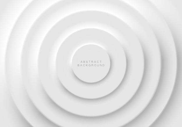 Design futuristico morbido, chiaro e semplice di elementi a forma di cerchio