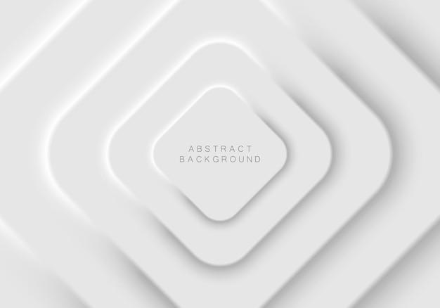 Design futuristico morbido, chiaro e semplice di elementi di forma quadrata