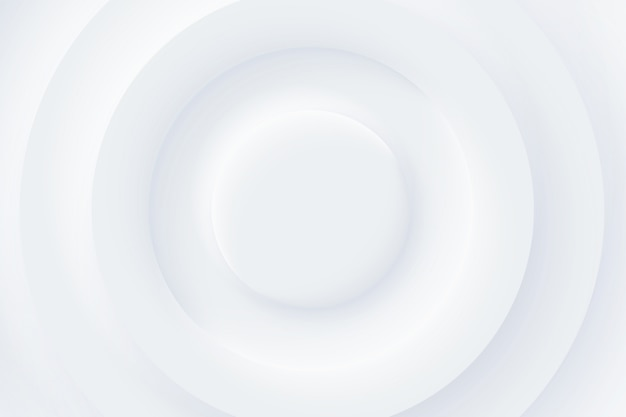Design di elementi di forma futuristica morbida, chiara e semplice. sfondo bianco minimalista. carta da parati bianca di strato astratto del papercut del cerchio