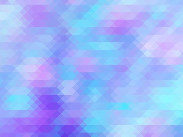 Illustrazione poligonale blu rosa pastello di colore morbido che consiste in triangoli geometrici di sfondo t...