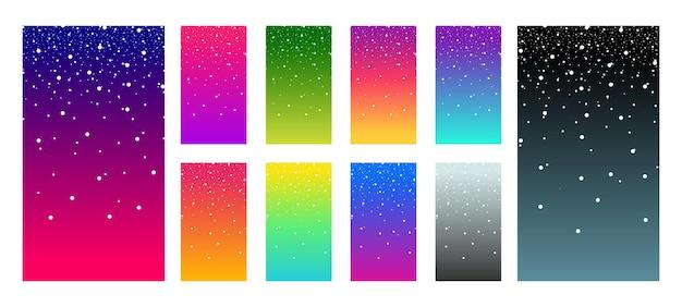 Tavolozza ui ux vettore schermo moderno sfumato vibrante di colore morbido per dispositivi mobili vivere liscio colorato