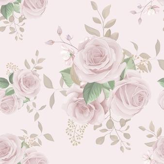 Morbido sfondo floreale senza soluzione di continuità
