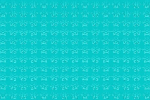 Morbido sfondo verde con motivo a fiocco di neve