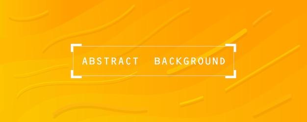 Carta da parati astratta arancione e gialla morbida e sfondo banner moderno orizzontale Vettore Premium