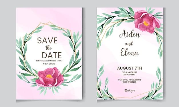 Invito a nozze floreale rosa tenue
