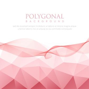 Morbido sfondo poligonale rosa