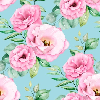 Modello senza cuciture floreale dell'acquerello rosa morbido
